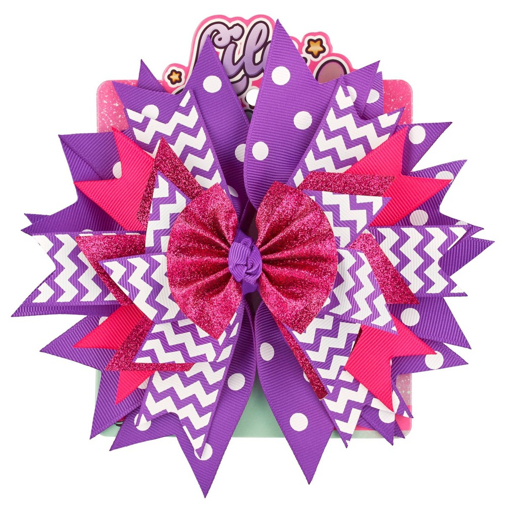 Image of Lily Frilly Hair Bow - Purple