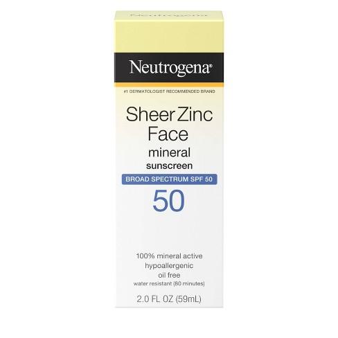 Neutrogena Sheer Zinc Sunscreen Face Lotion - SPF 50 - 2oz - image 1 of 4
