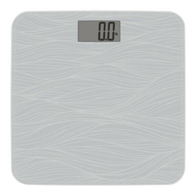 Glass Waves Bathroom Scale Gray - Escali