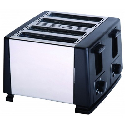 Brentwood 4 Slice Cool Touch Toaster in White