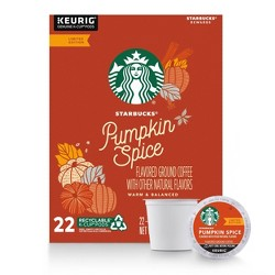 Starbucks Pumpkin Spice Light Roast Coffee - Keurig K-Cup Pods - 22ct