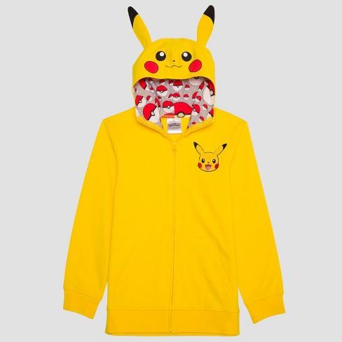 a91a536f0 Boys  Pikachu Sweatshirt With Hoodie - Yellow   Target