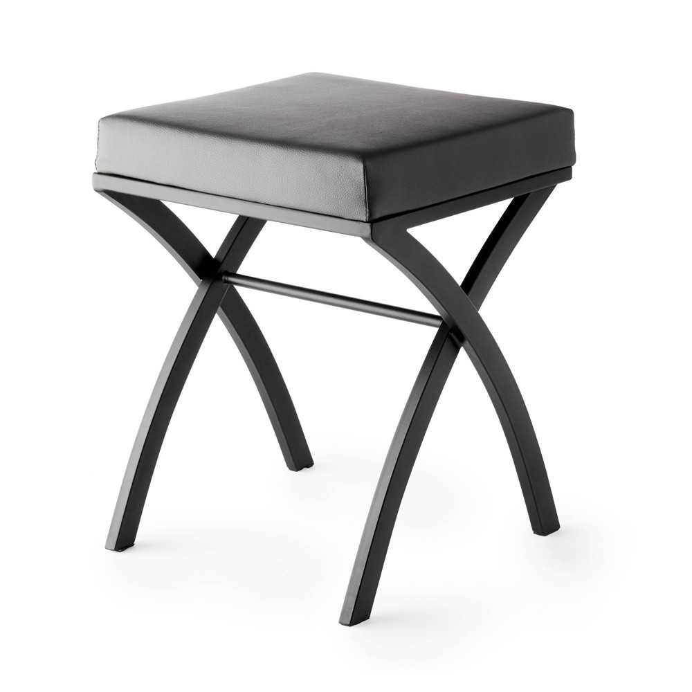 Image of Onda Vanity Seat Matte Black/Gray - Better Living Products
