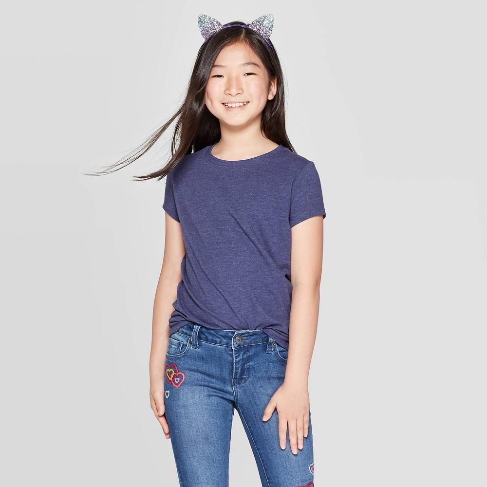 Girls Short Sleeve T Shirt Cat Jack 8482 Navy Xl