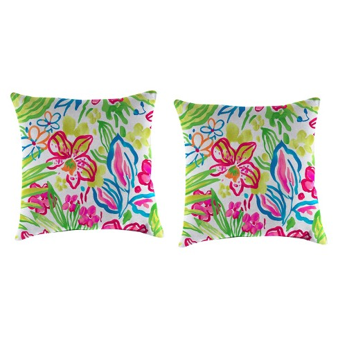Outdoor Set Of 2 Accessory Toss Pillows In Valeda Island - Jordan Manufacturing - image 1 of 1
