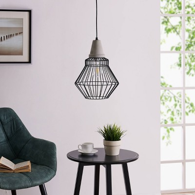 "16"" Brodi Cage Pendant Lamp Black - Aiden Lane"