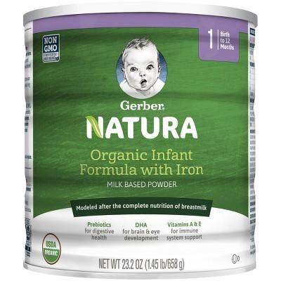 Gerber Natura Organic Powder Infant Formula Stage 1 - 23.2oz