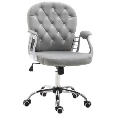 Vinsetto Massage Office Chair HeavyDuty Ergonomic Desk Chair with 6 Vibrating Points HeightAdjustable Padded Armrest Rolling Swivel PU Leather