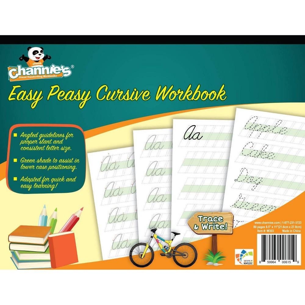 Image of Channie's Easy Peasy Cursive Workbook