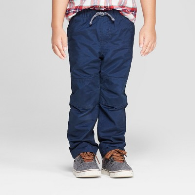 Toddler Boys' Cozy Lined Pull-On Pants - Cat & Jack™ Pilot Blue 12M