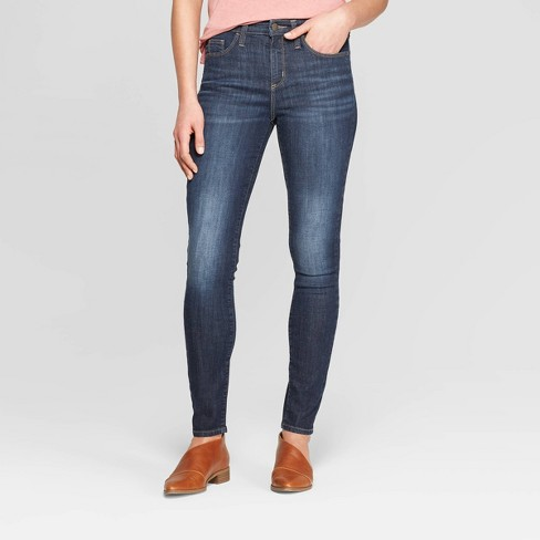 Women's High-Rise Skinny Jeans - Universal Thread™ Dark Wash - image 1 of 3