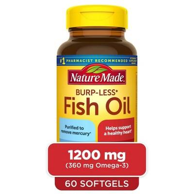 Nature Made Burpless Fish Oil 1200 mg Softgels - 60ct