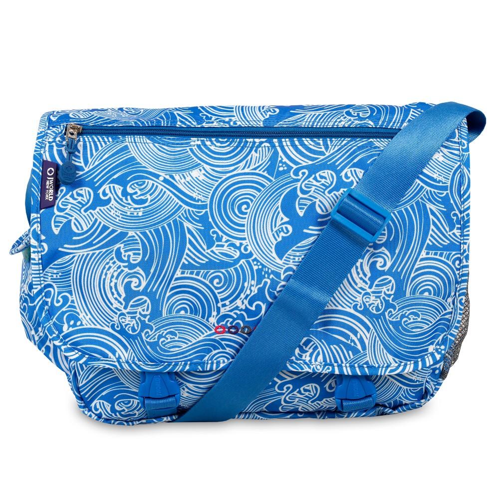 J World Terry Messenger Bag - Wave, Blue