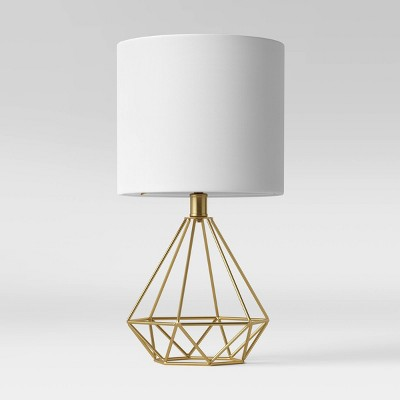 Wire Geo Table Lamp (Includes LED Light Bulb)Brass - Project 62™