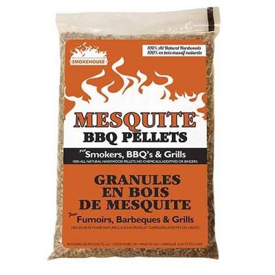 Smokehouse 9775-050-0000 100 Percent Natural Hardwood Mesquite Wood Smoking BBQ Pellets for Smoker & Grill, 40 Pound Bag