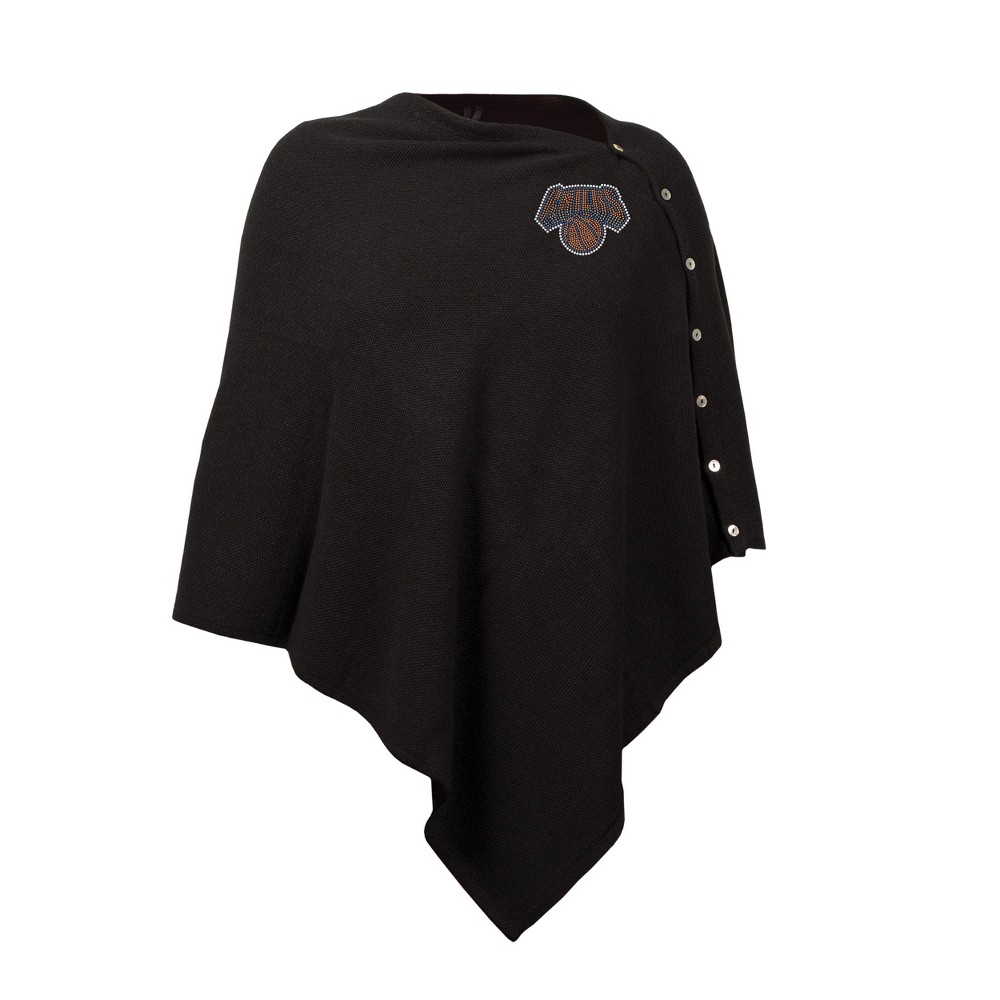 NBA New York Knicks Black Out Button Poncho