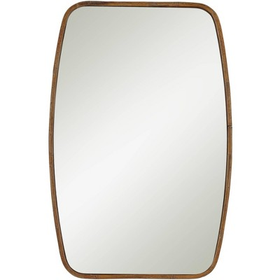 "Noble Park Stow Wood 24"" x 36 1/4"" Rounded Side Rectangular Wall Mirror"