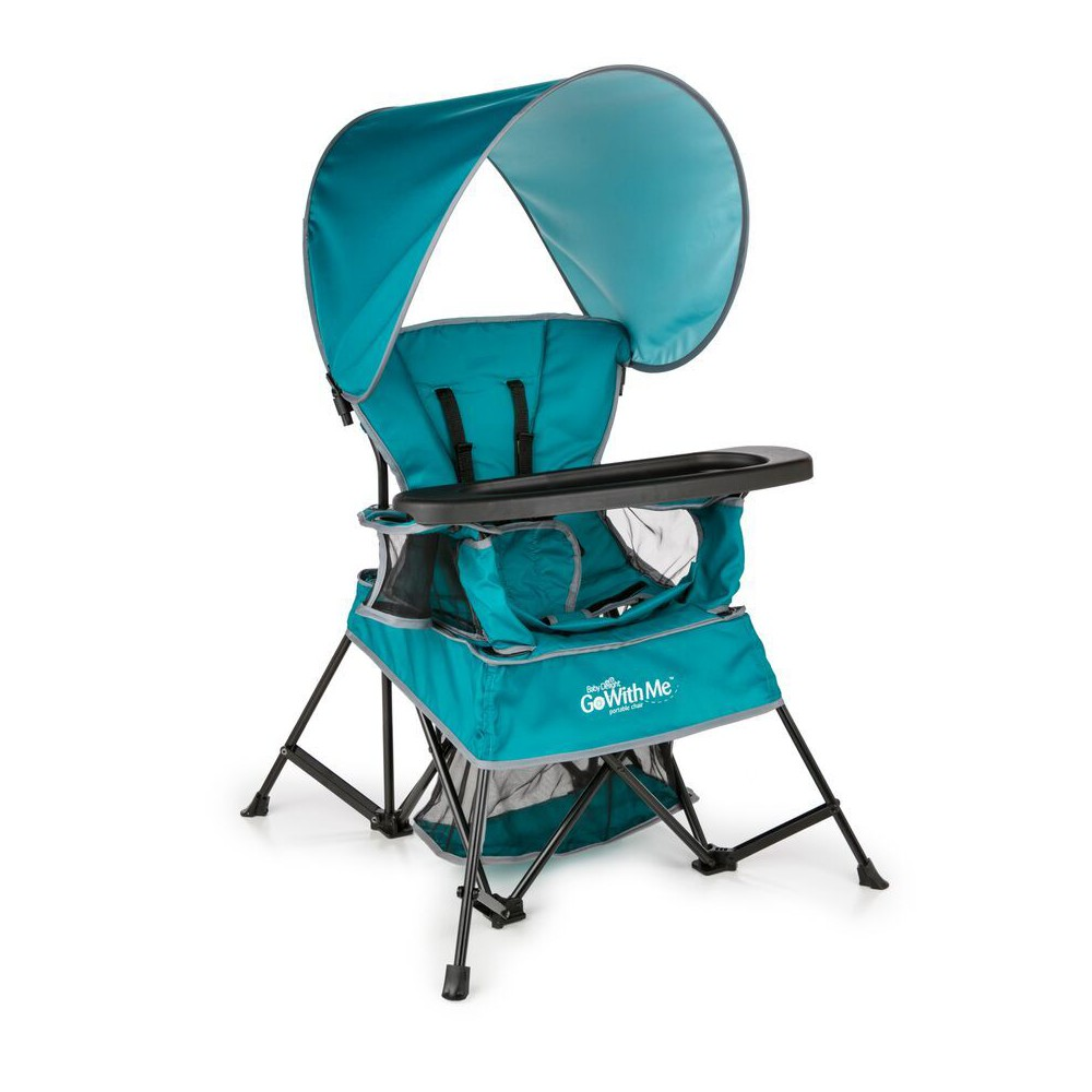 Image of Baby Delight Go With Me Venture Deluxe Portable High Chair - Teal, Blue