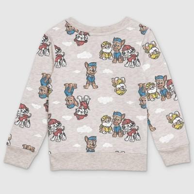 Toddler Boys' PAW Patrol Fleece Crew Neck Pullover - Cream