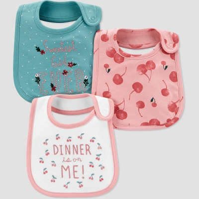 Baby Girls' 3pk Floral Bib Set - Just One You® made by carter's Green