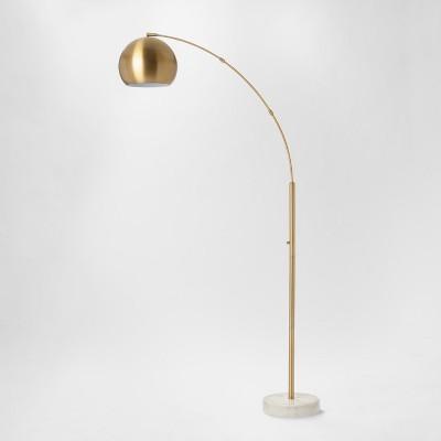 Span Single Head Metal Globe Floor Lamp Brass - Project 62™