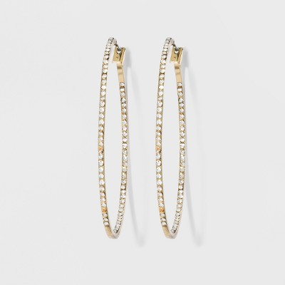 Hoop with Pave Stones Earrings - A New Day™
