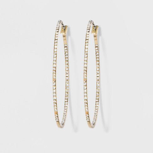 Hoop with Pave Stones Earrings - A New Day™ - image 1 of 3
