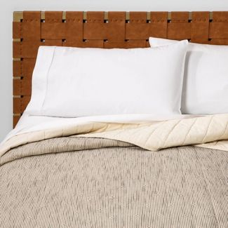 Twin Textured Stripe Quilt Neutral/Black - Opalhouse™
