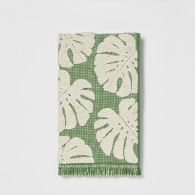 Palm Leaf Hand Towel Cream/Green - Threshold™