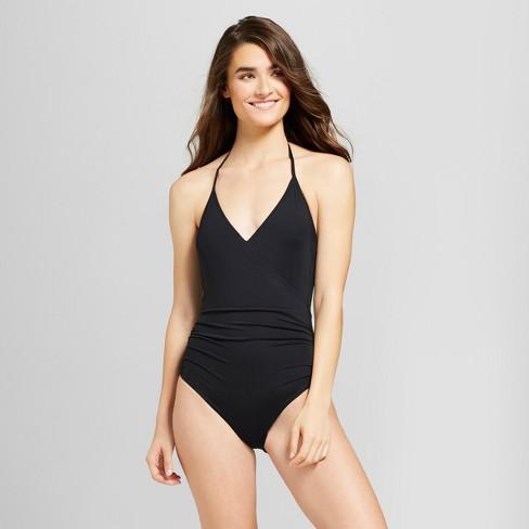 f5ca17d8b50ad Sunn Lab Women s Halter Wrap One Piece Swimsuit   Target
