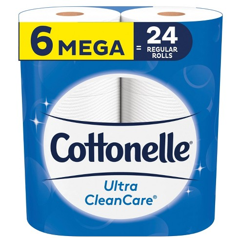 Cottonelle Ultra CleanCare Strong Toilet Paper - Mega Rolls, Bath Tissue - image 1 of 4