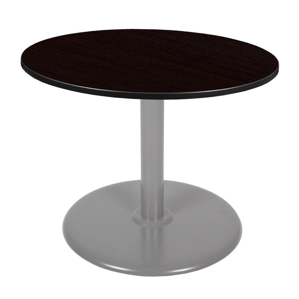 42 Via Round Platter Base Table Espresso/Gray (Brown/Gray) - Regency