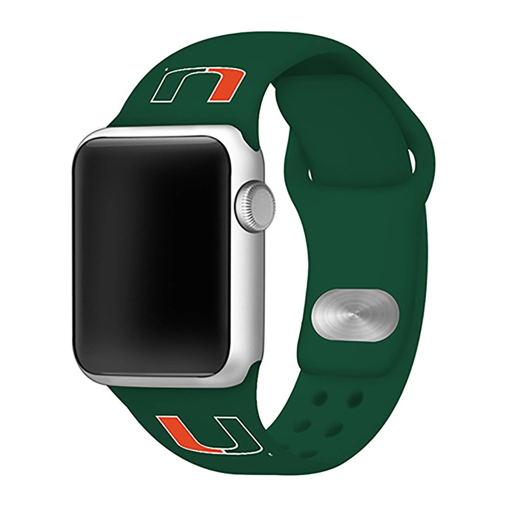 Ncaa Miami Hurricanes Silicone Apple Watch Band 42mm