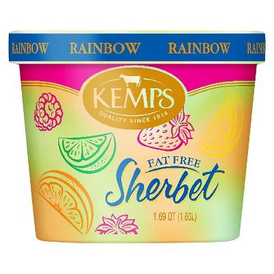 Kemps Rainbow Frozen Sherbet - 54oz