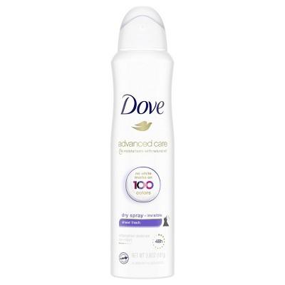 Dove Sheer Fresh 48-Hour Invisible Antiperspirant & Deodorant Dry Spray - 3.8oz