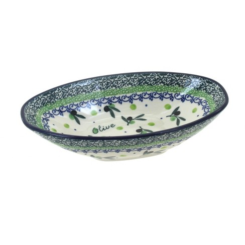 Blue Rose Polish Pottery Mission Olive Small Oval Dish - image 1 of 1