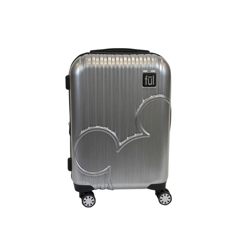 "FUL 21"" Disney Mickey Mouse Polycarbonate Hardside Suitcase - Silver - image 1 of 5"