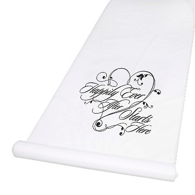 Wedding Aisle Runner White