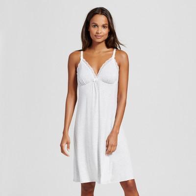 Maternity Nursing Empire Nightgown - Gilligan & O'Malley™ Light Gray Heather M