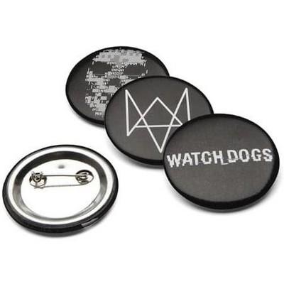 """ThinkGeek, Inc. Watch Dogs 1-1/2"""" Logo Pins, Set of 4"""