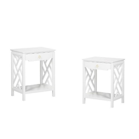 (Set of 2) Modern Night Stand in White - Comfort Pointe  - image 1 of 4
