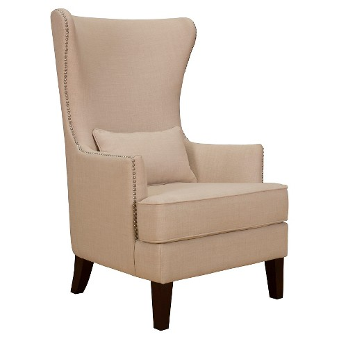 Karson High Back Upholstered Chair, High Back Upholstered Chairs With Arms