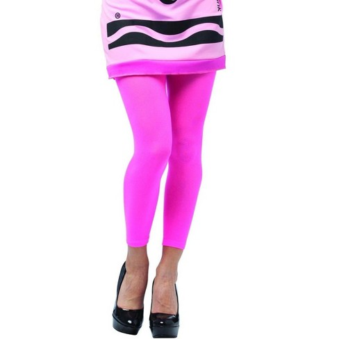 Rasta Imposta Crayola Tickle Me Pink Footless Tights Costume Accessory Adult - image 1 of 1