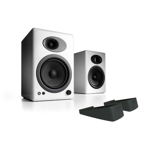 Audioengine A5+ Classic Powered Bookshelf Speakers With Stands - Pair - image 1 of 5