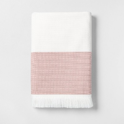 Engineered Border Bath Towel Copper - Hearth & Hand™ with Magnolia