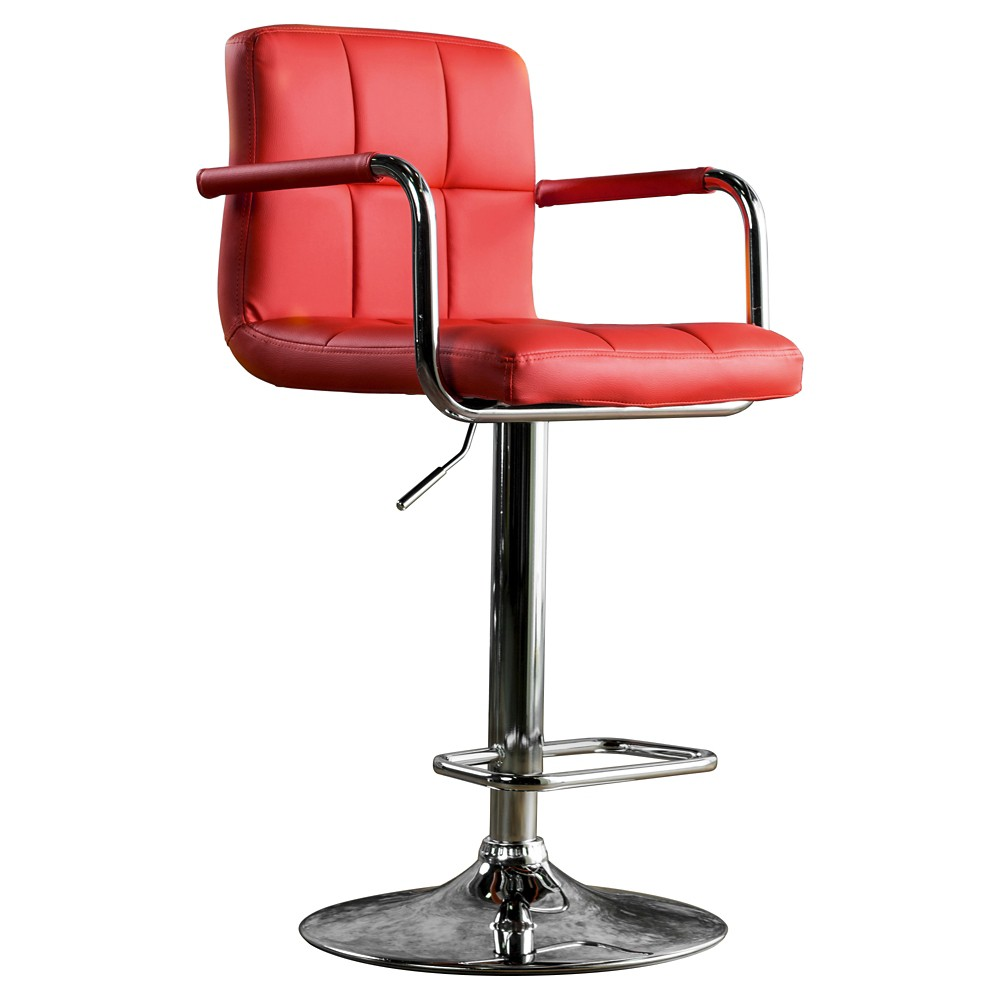 Ethan Adjustable Swivel Barstool w/Arms Red - miBasics, Apple Red