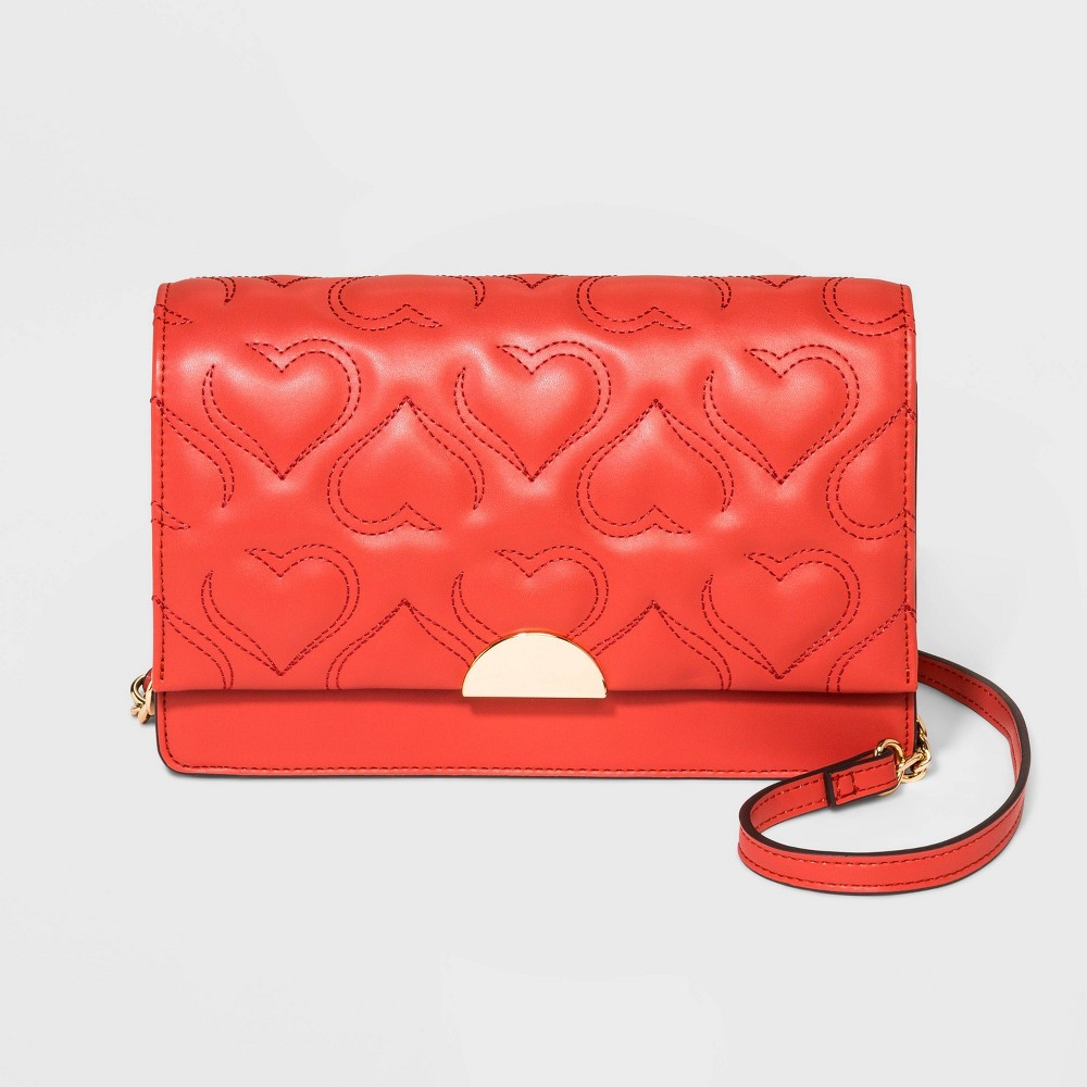Valentines Day Dresses, Outfits, Lingerie | Red Dresses Quilted Crossbody Bag - A New Day8482 $29.99 AT vintagedancer.com