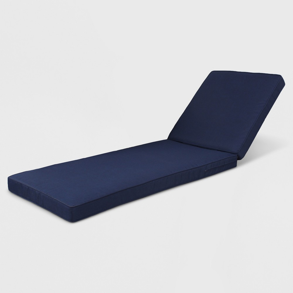 Outdoor Chaise Lounge Cushion Navy Blue