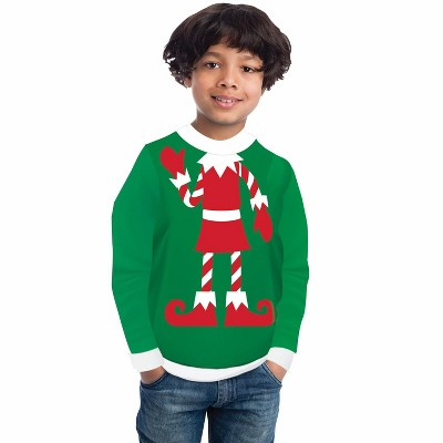 Forum Novelties Red Elf Sweater Child Costume
