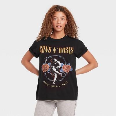 Women's Guns n' Roses Short Sleeve Graphic T-Shirt - Black